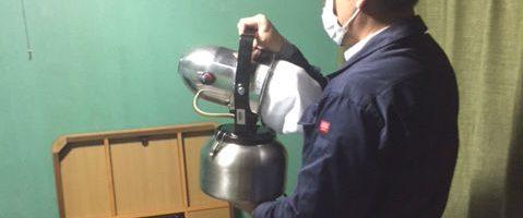 栃木県小山市で除菌・消臭作業