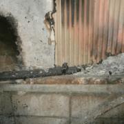 火災現場の写真