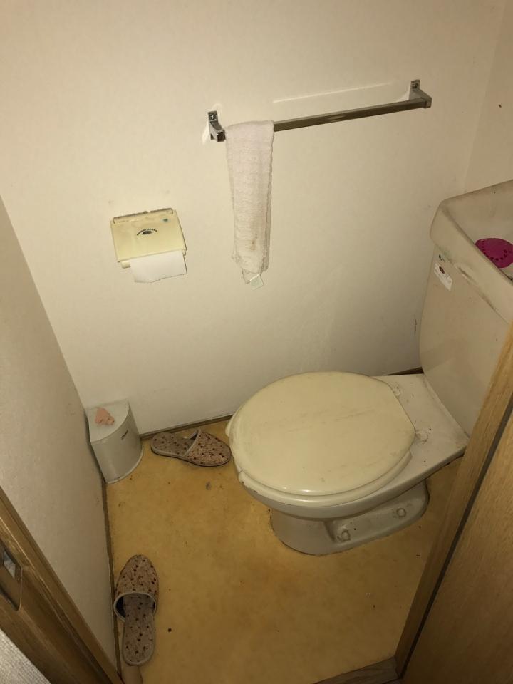 トイレの片付け・整理前