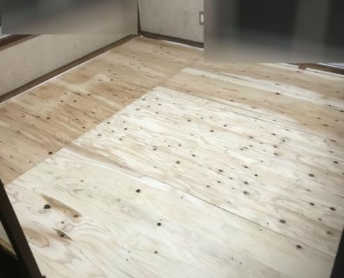 床板のリフォーム完了後