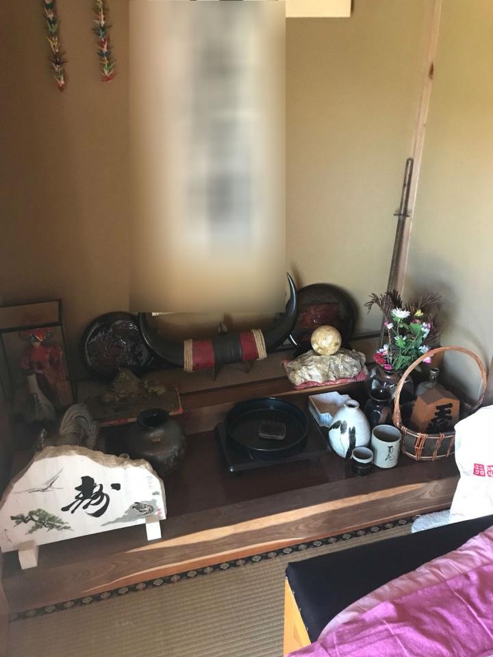 和室の遺品整理前