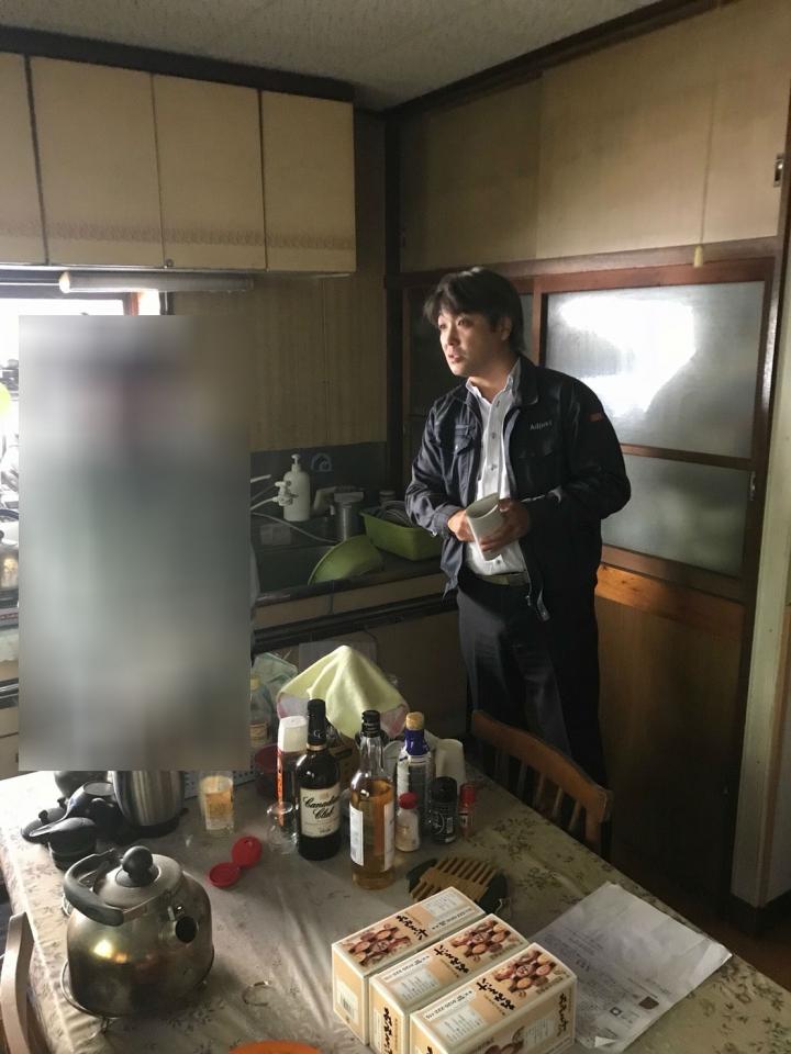 台所の遺品整理前