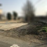 駐車場のカーポートとコンクリート土間の撤去・処分