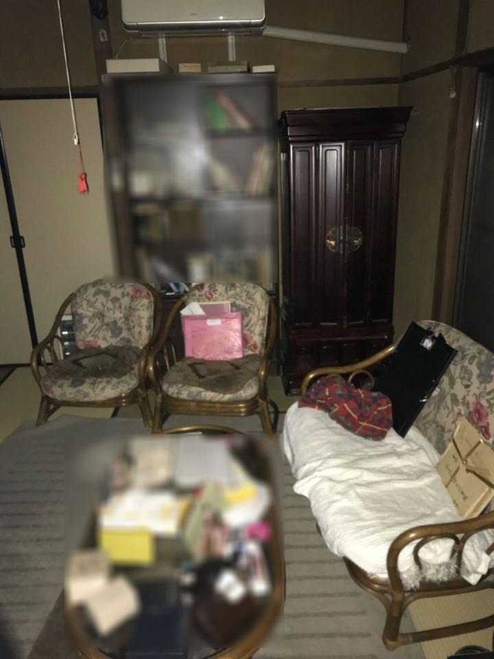 和室の整理前