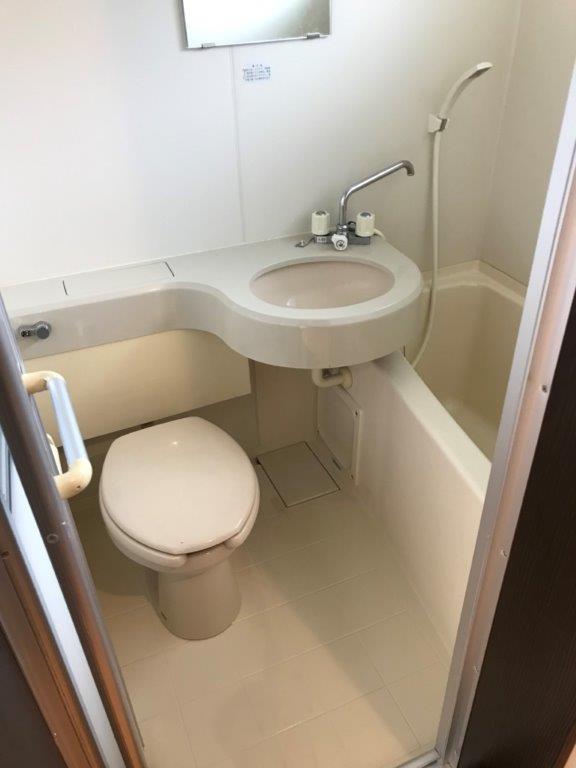 浴室の清掃後