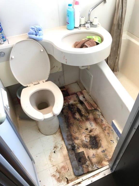 浴室の清掃前