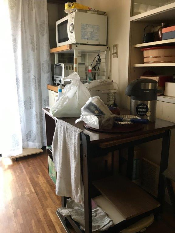 キッチン用品の片付け前