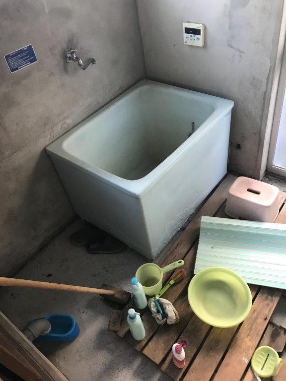 お風呂場の片付け前