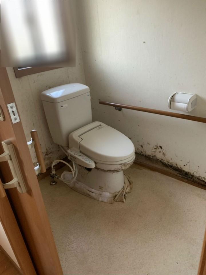 トイレの特殊清掃後