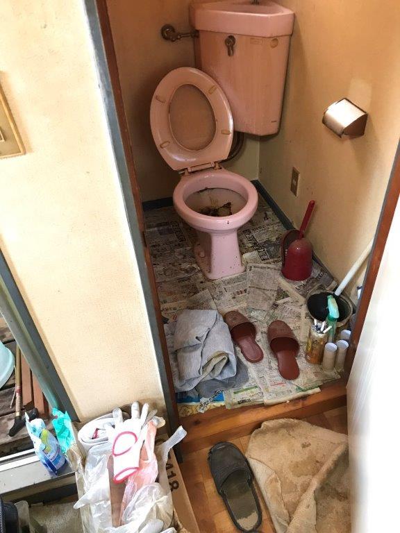トイレの清掃前