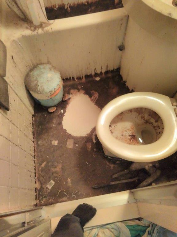 トイレのクリーニング前の状態