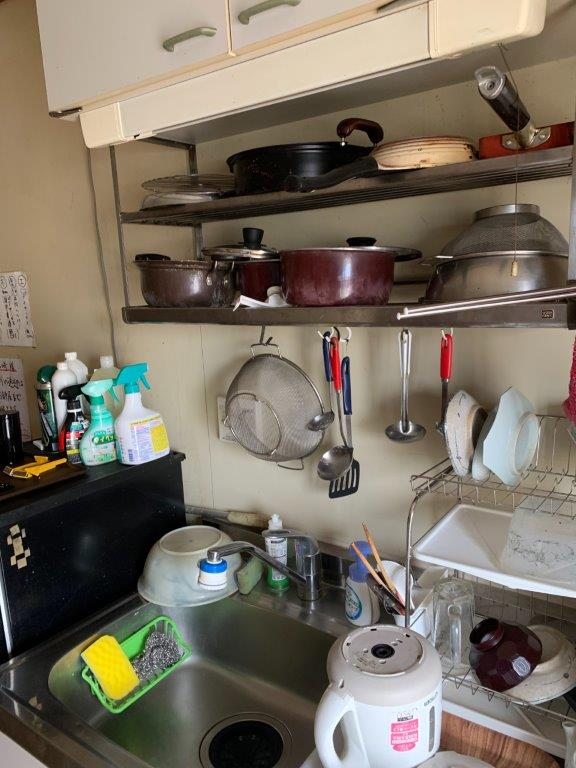 キッチンの片付け前