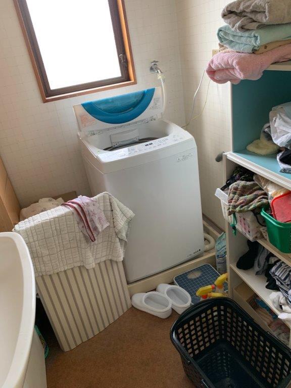 洗面所・浴室の片付け前