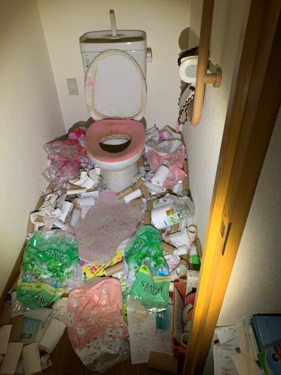 トイレの片付け前