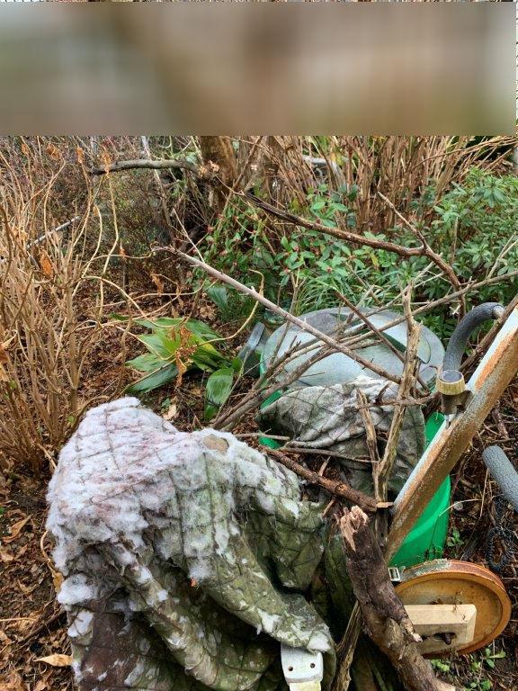 庭の残置物