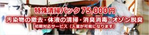 特殊清掃パック75,000円