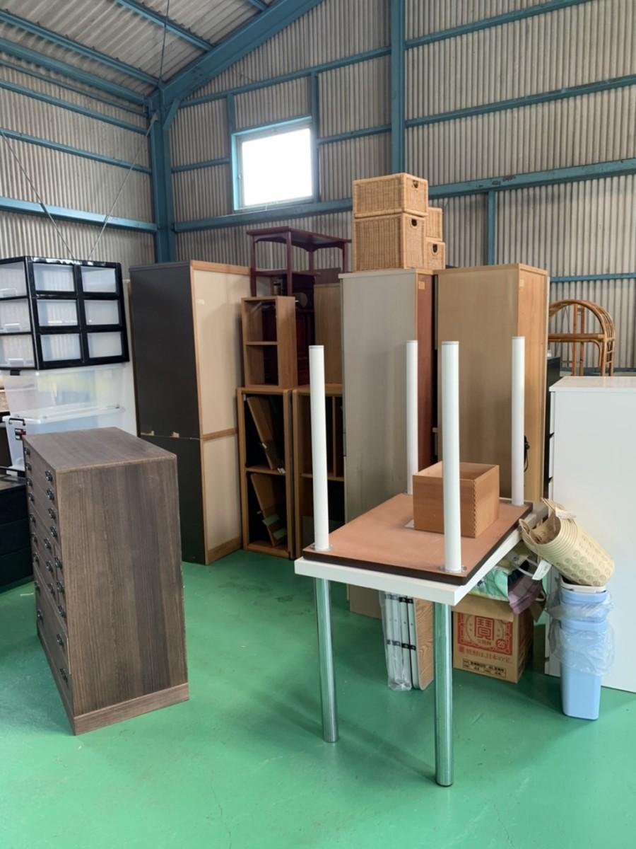 倉庫内の輸出品