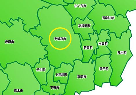 宇都宮市地図