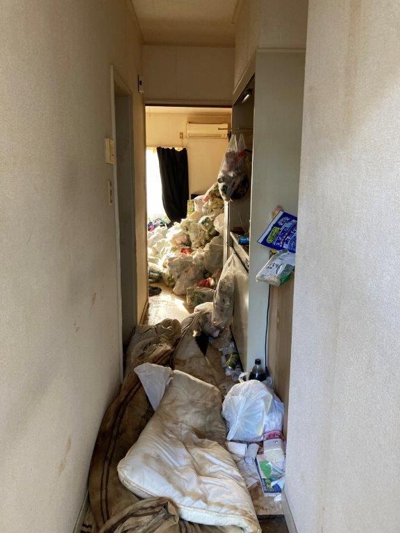玄関入口の片付け・清掃前