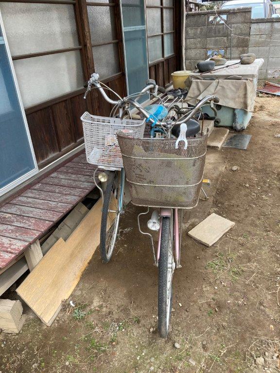 自転車の片付け前