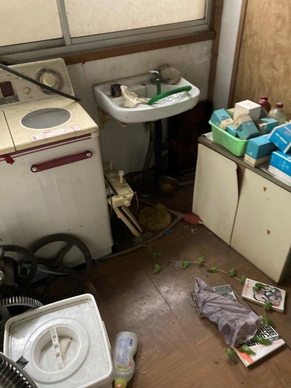 洗面スペースの片付け前