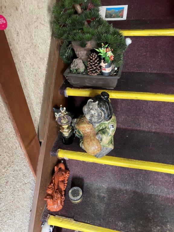 階段の片付け前